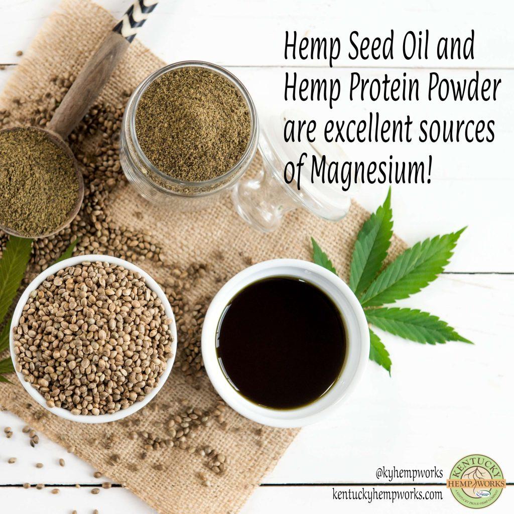 Magnesium in Hemp Seed Oil and Hemp Protein Powder